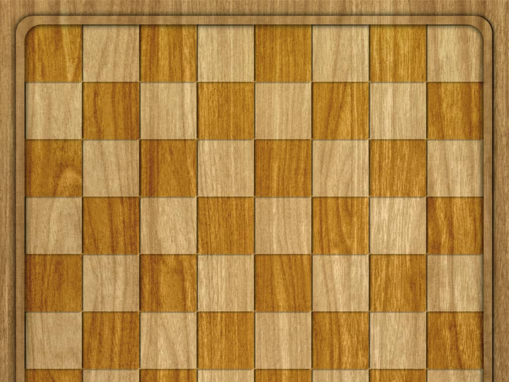 checkers board table wooden style