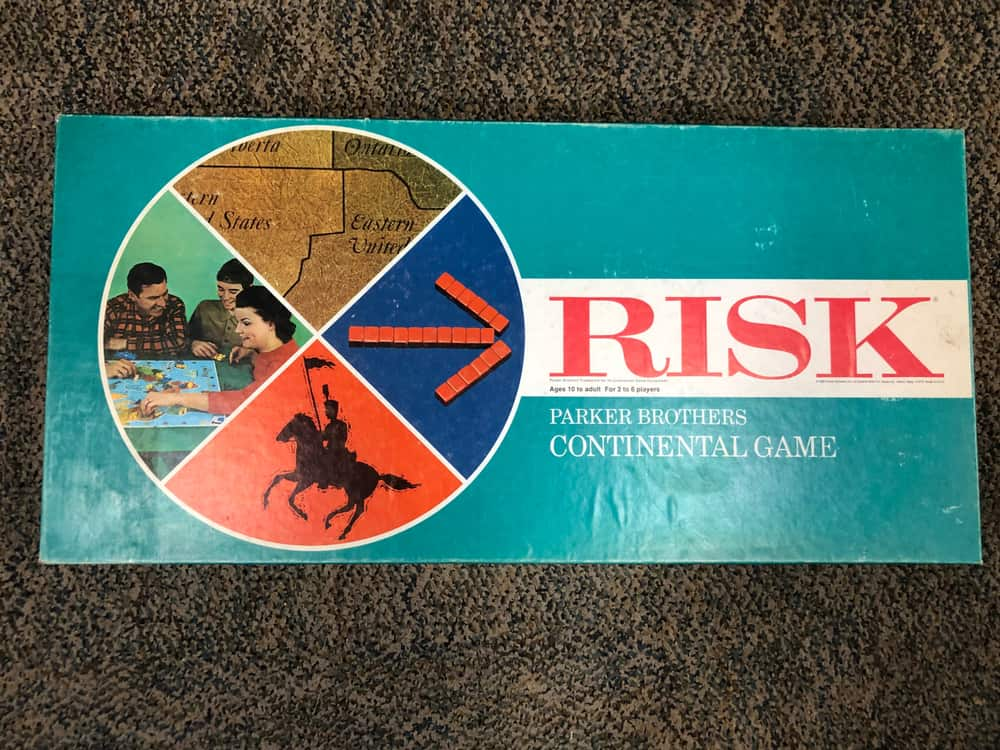 Risk board game box (vintage) from the 1960s or 1970s