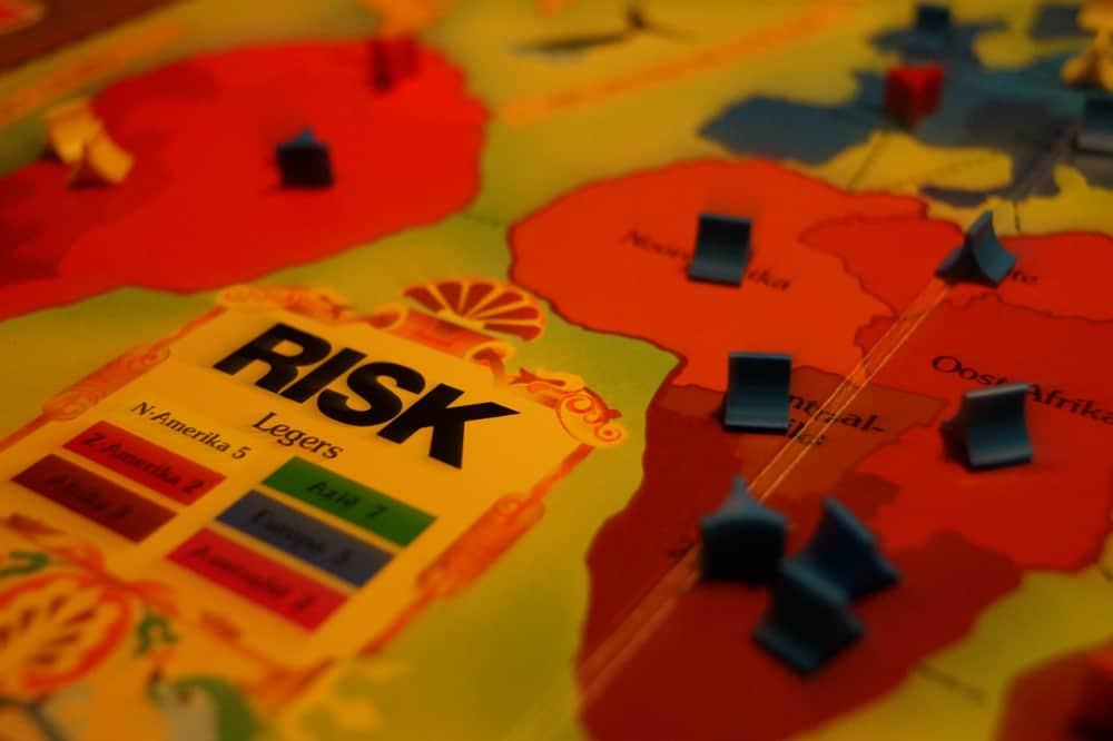Risk board game closeup