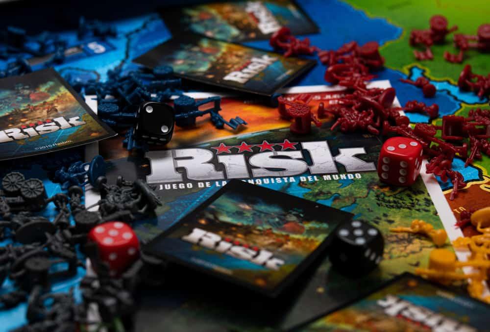 Risk board game. War solider's board game