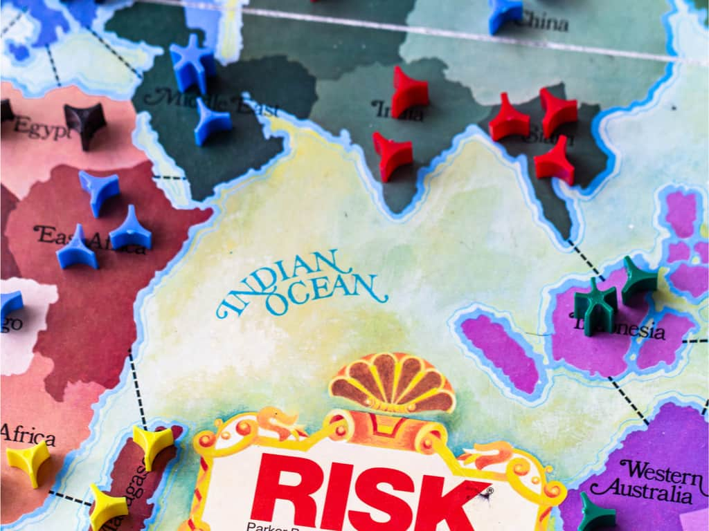 Risk game - board