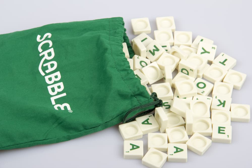 Scrabble game - bag with tiles