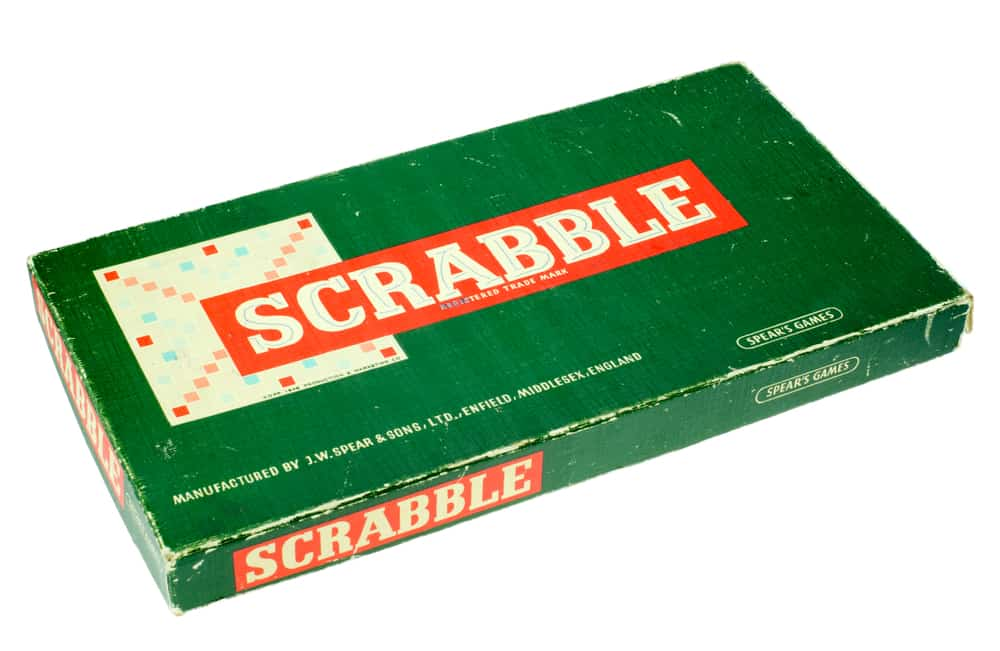 Scrabble word game - First developed in 1938 by Alfred Mosher Butts