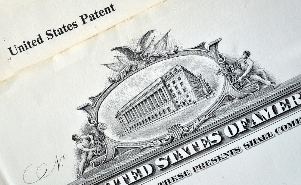 USA invention patent close up